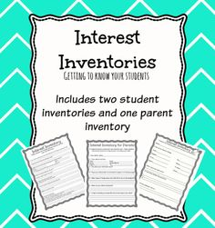 Students that have challenging behaviors are more difficult to bond with and often have fewer adult relationships. One way to help learn about your students and their individual interests is an Interest Inventory. Student Inventory, Learning Style Inventory, Student Data, Student Teaching, Teaching Tips, Teacher Blogs, Teacher Resources, Interest Inventory Elementary, Elementary Education