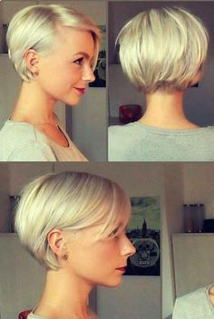 16 Short Bob Hairstyles for Women 2019 - FazhionA bob can accommodate a lot of curls, but nevertheless, it may also accommodate flat lifeless hair!New Hair Short Bob Straight Makeup IdeasHalf Up Half Down Wedding Hairstyle, Beautiful flowy hair is constan Growing Out Short Hair Styles, Curly Hair Styles, Hair Growing, Short Bob Styles, Growing Out Pixie, Thin Hair Styles For Women, Grow Hair, Women Hair Cuts, Short Hair Styles Thin