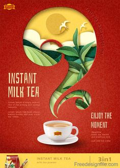 Instant milk tea flyer template vector The Effective Pictures We Offer You About christmas Graphic Design A quality picture can tell you many things. Christmas Graphic Design, Food Graphic Design, Food Poster Design, Web Design, Graphic Design Posters, Graphic Design Inspiration, Flyer Design, Food Design, Creative Advertising
