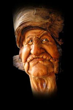 OAK Wood Tree Spirit Carving