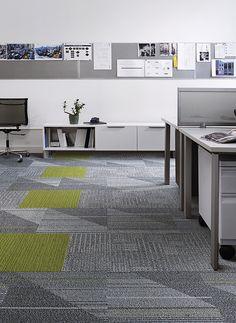 Interface | Modular Carpet Tile | Detours Pewter | CT101 Pewter | Viva Colores Verde Primavera