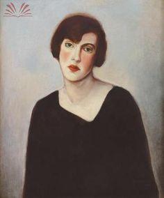 Portrait of a Woman  by Candido Portinari (Brazilian 1903-1962)