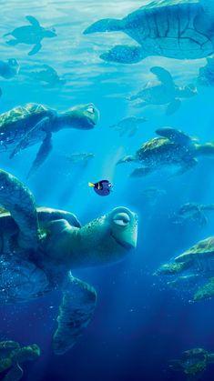 Return to the Main Poster Page for Finding Dory 6 Of 23 Disney Pixar, Disney And Dreamworks, Disney Animation, Disney Magic, Disney Art, Nemo Wallpaper, Wallpaper Animes, Disney Phone Wallpaper, Cartoon Wallpaper