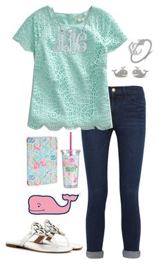 """""""i think this is super cute... Anyone agree?"""" by lbkatie17 ❤ liked on Polyvore featuring Frame Denim, J.Crew, Lilly Pulitzer, Tory Burch and Vineyard Vines"""