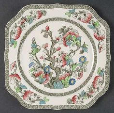 Johnson Bros Indian tree square side plate and round bread plate. I also have a saucer that is a fake of this pattern. Early knock-offs!