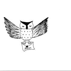 Harry Potter Owl Ink Drawing