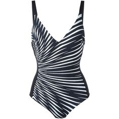 La Perla 'Op-Art' underwired swimsuit ($210) ❤ liked on Polyvore featuring swimwear, one-piece swimsuits, swimsuits, black, bathing suits underwire bra, underwire swim suit, bathing suit swimwear, print one piece swimsuit and underwire swimwear