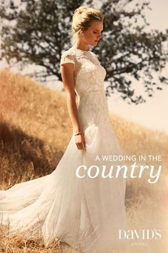 Get inspired by a wedding in the country, for the bride who loves wildflowers and dancing under the stars.:
