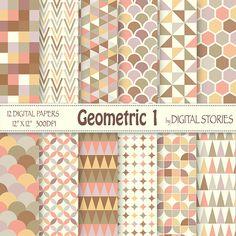 Geometrische digitale Paper: Geometrische 1 door DigitalStories
