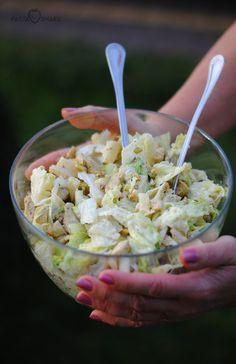 Sałatka z kurczakiem, ananasem i pistacjami Potato Salad, Diet Recipes, Cabbage, Curry, Food And Drink, Potatoes, Vegetables, Cooking, Ethnic Recipes