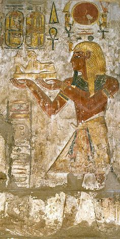 Cropped version of a relief from the Sanctuary of Khonsu Temple depicting Ramses III. Second ruler of Dynasty 20. Reign: 1186-1155 BC. Preceeded by Setnakhte. Succeeded by Ramses IV