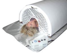 Sauna Dome, one person far infrared sauna. Highly effective detoxification and calorie burner.  http://essentialplanet.com/health/far-infrared-hyperthermic-sauna-dome/