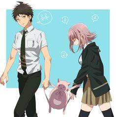 Hajime Hinata and Chiaki Nanami.