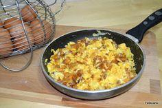 Petiscana: Ovos mexidos com farinheira