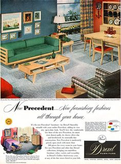 Drexel Furniture Precedent, 1953. thats our coffee table! too bad our dog chewed it up!