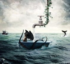 Photo Manipulations by Le-Meridian http://www.cruzine.com/2013/08/02/photo-manipulations-lemeridian/