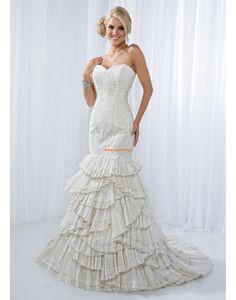 Meerjungfrau-Linie/Mermaid-Stil Organza Elegant & Luxuriös Brautkleider 2014
