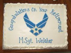 military retirement cake - Google Search