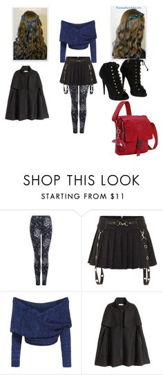 """""""Evie Winter Outfit"""" by betancourtosusy ❤ liked on Polyvore featuring Dex, H&M, Giuseppe Zanotti and Kipling"""