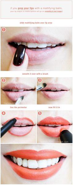Matte lipstick prep