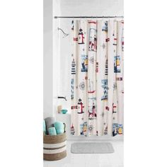 Free 2 Day Shipping On Qualified Orders Over 35 Buy Mainstays Lighthouse Shower Curtain