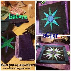 Before and After Quilting - 17 years in the middle! The Middle, Quilting, Meet, God, This Or That Questions, Projects, Dios, Log Projects, Blue Prints