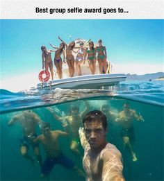 This is one of the coolest group selfies I've ever seen.