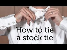 How to Tie a Stock Tie | Eventing Nation - Three-Day Eventing News, Results, Videos, and Commentary