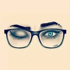 girl with glasses drawing - Google Search
