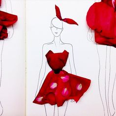 Clever Fashion Illustrations Made Out of Flower Petals - My Modern Metropolis