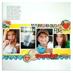 Our Favorite Treat - nice design--need to take fotos of kid's obsession with Chick-Fil-A!