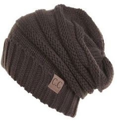 fa25c531c66 Unisex Soft Stretch Oversized Knit Slouchy Beanie (Brown). Fall  AccessoriesFashion AccessoriesSlouchy BeanieBeanie HatsKnitted ...
