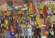 Santa Creus Festival in Figueras - the Circus, 1921 by Salvador Dali. Expressionism. genre painting