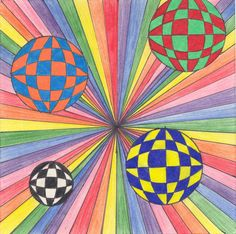 4th & 5th Grade Art Op-Art Try using multiplication in order to complete...