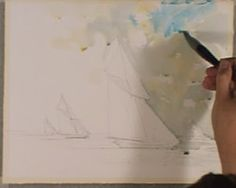 Art Of Watercolor: How to Paint a Seascape and a Sailing Boat
