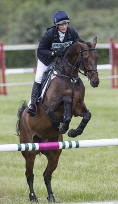 Zara Phillips riding Master Lux while competes at the Barbury International Horse trials in London on 5 July 2013