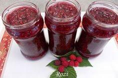 Rozi erdélyi,székely konyhája: Málnadzsem Pickles, Mason Jars, Sweets, Cookies, Baking, Vegetables, Food, Storage, Diy