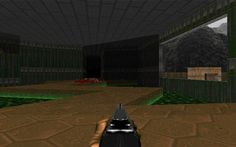 "E1M1: Hangar (Doom) screenshot This is a screenshot of a game in the Doom series. The design and artwork depicted in the screenshot are under the copyright of id Software, its licensees, and/or its distributors, and are displayed here under ""fair use"". The creator of the screenshot claims no additional copyright on the composition of the image. It is believed that the use of such screenshots in the Doom Wiki qualifies as fair use because: No freely licensed alternative exists o..."