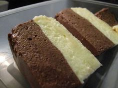 Dukan double cheesecake RECIPE(english): http://mydukandiet.com/recipes/two-flavour-cheesecake.html