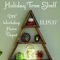 Woohoo! It's time for another #diyworkshop announcement for @homedepot ! Sign up #linkinprofile to attend this workshop with family and or friends. Taking a workshop with friends is not just fun-you're making memories and learning how to make a lasting Christmas decor item like this #holidaytreeshelf https://www.myrepurposedlife.com/holiday-tree-shelf-home-depot-diy-workshop/ #ad