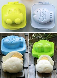 how cute are these japanese egg shaping containers!