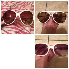 Sunglasses lot WEEKEND SALE!! Sunglasses lot. This lot includes 3 pairs of white sunglasses and 3 pairs of black sunglasses. Accessories Sunglasses