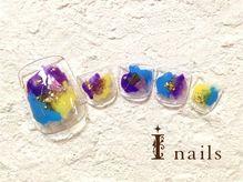 アイネイルズ 渋谷店(I nails)/ぬりかけパンジー