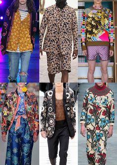 Menswear Spring/Summer 2016 Catwalk Print & Pattern Trend Highlights Part 2 - Flower Power