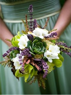 bouquet with lavender and succulents