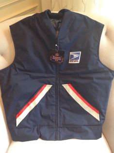 54fa6ee224 USPS Men s Postal size Large Blue Vest  fashion  clothing  shoes   accessories  mensclothing  coatsjackets (ebay link)