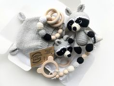 Excited to share this item from my shop: RACOON baby and toddler gift set, knitted gray baby hat, binky clip, set of crochet toys Crochet Zebra, Crochet Toys, Crochet Baby, Baby Boy Gifts, Toddler Gifts, Baby Shower Gifts, Toddler Boy Birthday, Birthday Gifts For Boys, Binky