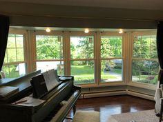 Interior view of the 5 new, vinyl replacement windows we installed on this home in Dresher, PA.