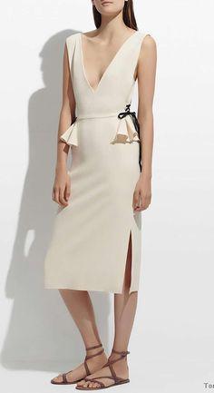 939e1230fb79 Click to Buy    Sexy Women V-Neck Sheath Dress Sleeveless Split