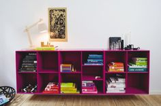 with the books, of course, organized by colour...
